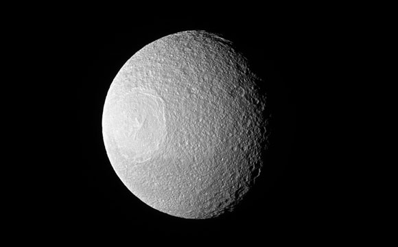 Cassini Views Small Moon Tethys