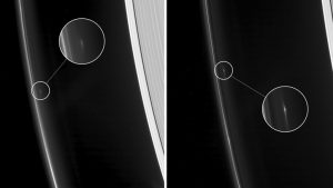 Cassini Views Small Objects in Saturn's F Ring