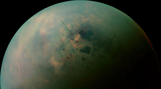 Cassini Views Titans Lakes