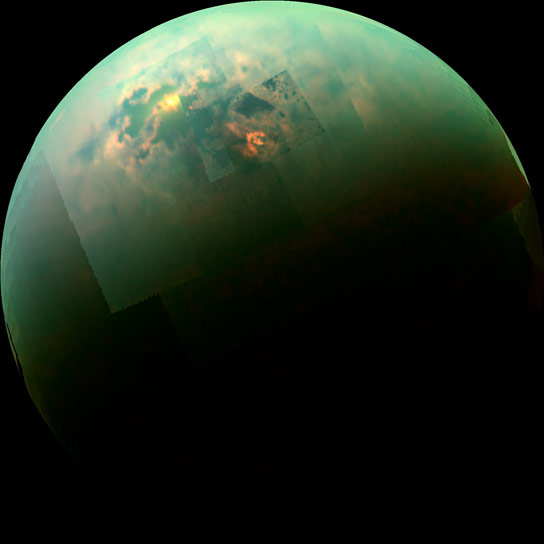 Cassini Views Titan's North Polar Seas