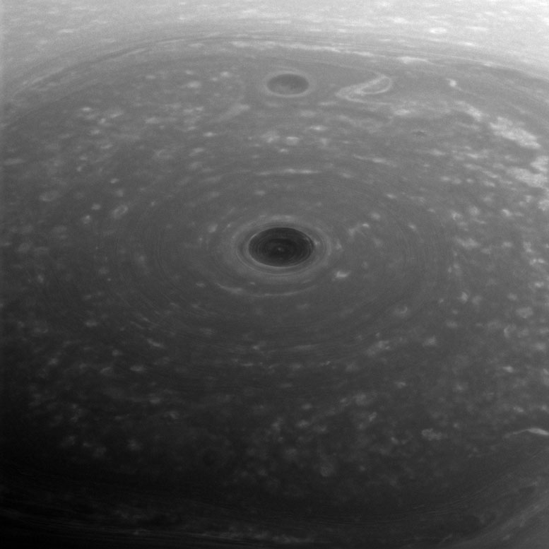 Cassini Views Turbulent Clouds at the Top of the Saturn