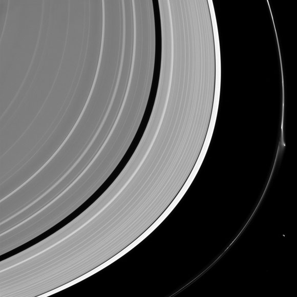 Cassini Views a Disruption in Saturn's Ring