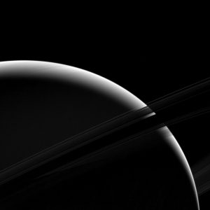 Cassini Views a Sliver of Saturn