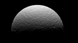 Cassini's Final Observation of Saturn's Moon Rhea