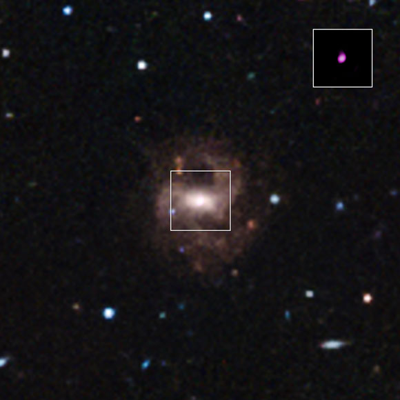 Chandra Identifies the Smallest Supermassive Black Hole Ever Detected