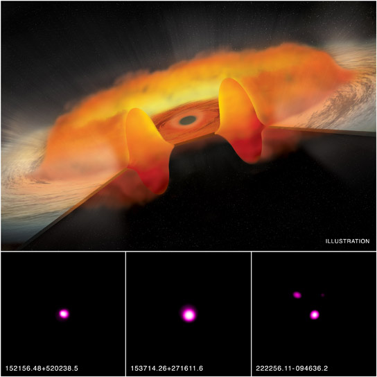 Chandra Suggests Black Holes Gorging at Excessive Rates