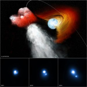 Chandra Views Pulsar Punching Hole in Stellar Disk