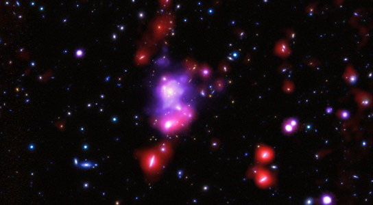 Chandra Weighs the Most Massive Galaxy Cluster to Date