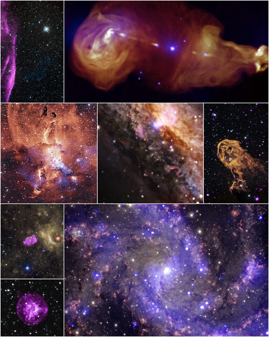 Chandra Xray Observatory Releases Eight Never Before Seen Images