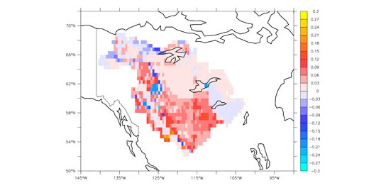 Changes in atmospheric CO2 consumption by chemical weathering in the Mackenzie River basin