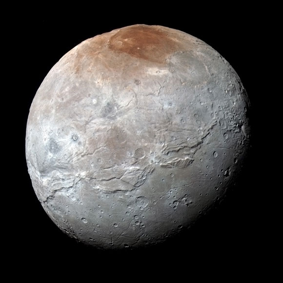 Charon's Polar Coloring Comes from Pluto