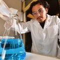 Chemical technologist Harry Pratt synthesizes a copper-based ionic liquid