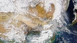 China Dust Storm March 2021 Annotated