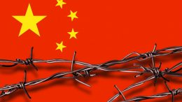 Chinese Flag Barbed Wire
