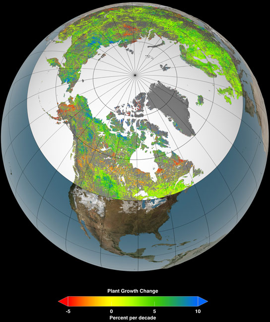 Climate Change Shifts Northern Growing Seasons