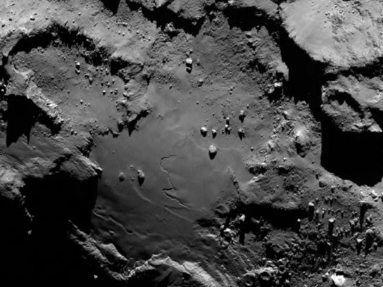 Close Up Image of Comet 67P