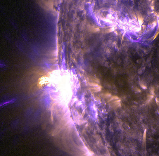 Close Up View of M5 Solar Flare