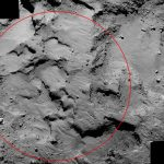 Close Up View of Rosetta Comet Landing Site