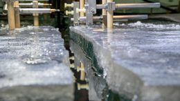 Close-Up of Final Ice Crack