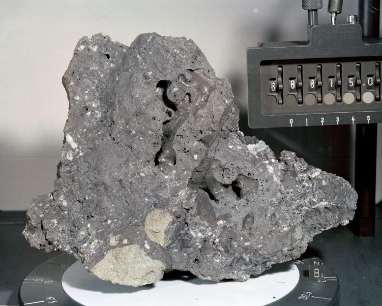 Closeup View of Apollo 16 Lunar Sample