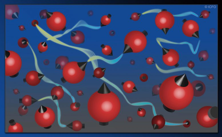 Cloud of Atoms with Pairs of Entangled Particles