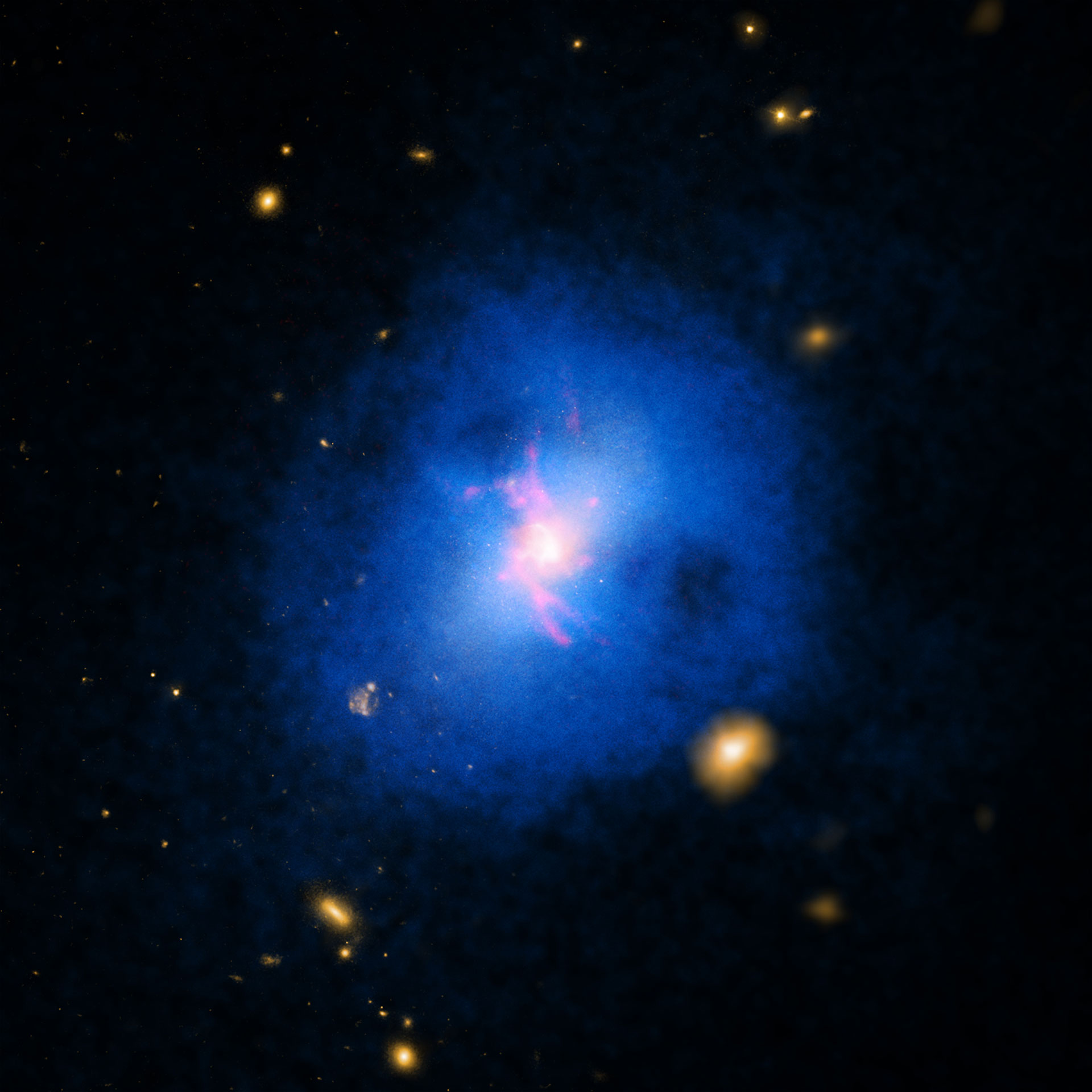 Astronomers Reveal Cold Molecular Gas Pumped by a Black Hole