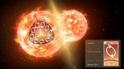 Colliding Stars Spill Radioactive Molecules Into Space
