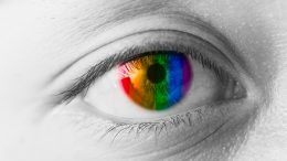 Color Blindness Correct Contact Lense Artists Concept