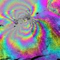 Color-enhanced UAVSAR interferogram images of Hawaii's Kilauea volcano