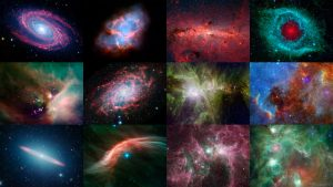Colorful Space Calendar Celebrates 12th Anniversary of NASA's Spitzer