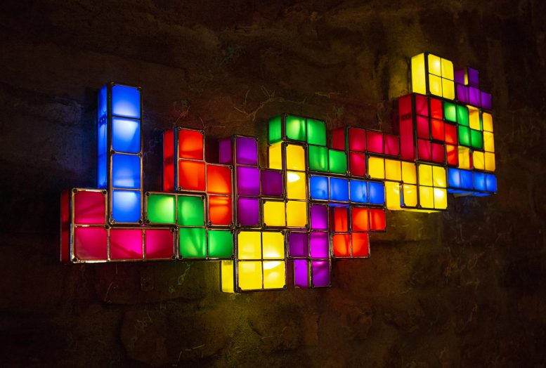 Colorful Tetris Tiles
