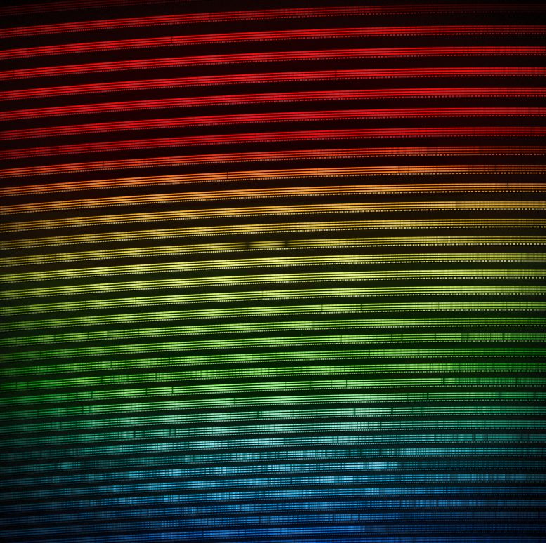 Colorized 2D Spectra of Star Gliese 486