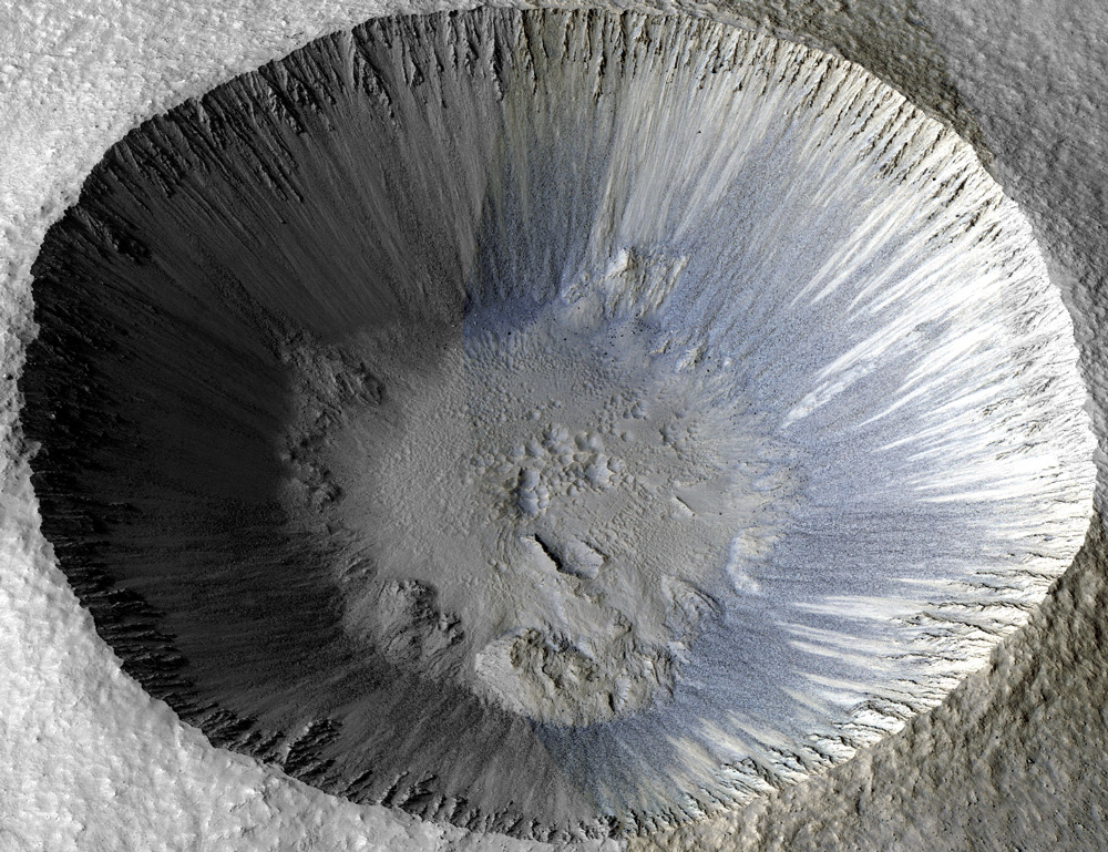 Colorized 3D Model of Zumba Crater