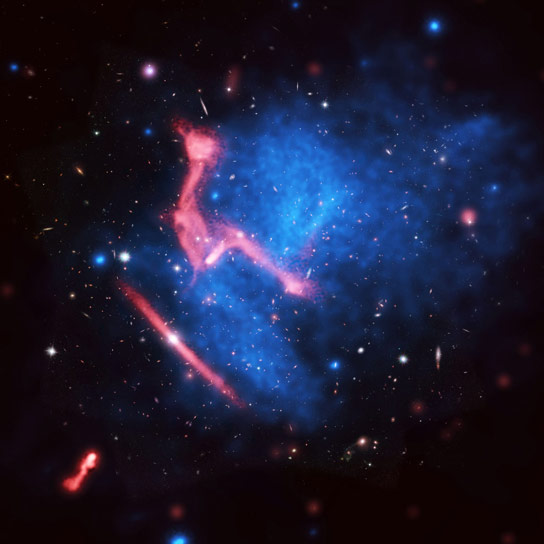 Complex Image of Colliding Galaxy Clusters