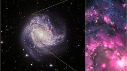 Composite image of spiral galaxy M83