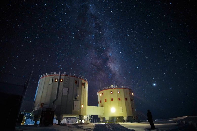 Concordia Research Station at Night