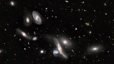 Copeland Septet Group of Galaxies Crop