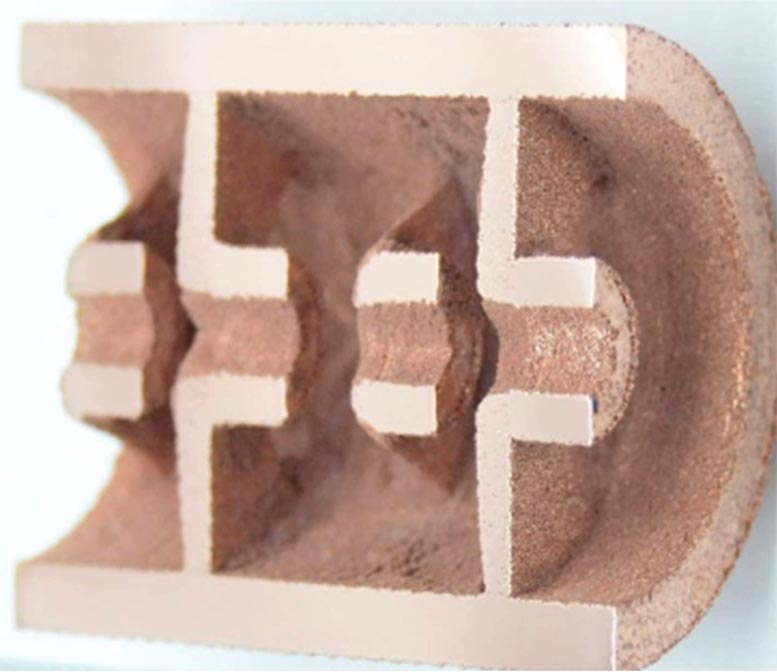 Copper 3D-Printed Particle Accelerator Component