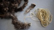 Cord Wrapped in Turkey Feathers