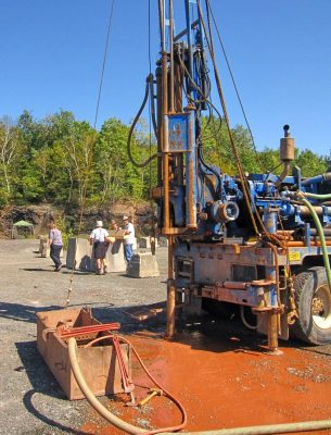 Core Drilling Operations Cairo Fossil Forest Site