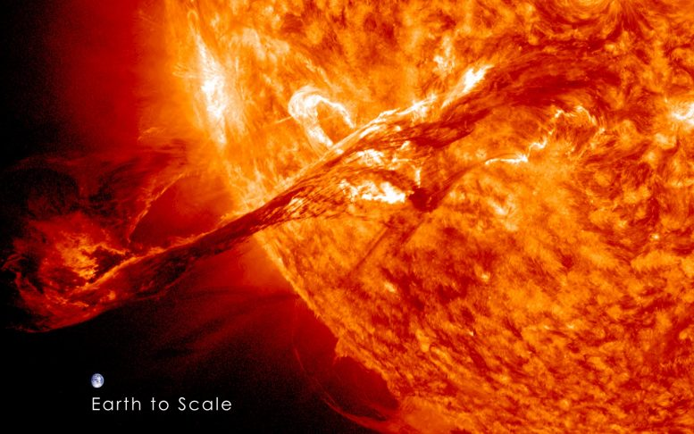 Coronal mass ejection of the earth rock