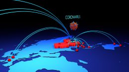 Coronavirus Tracking Map Illustration