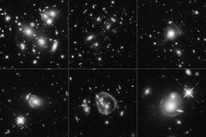 Cosmic Magnifying-Glass Effect Captures Universe's Brightest Galaxies