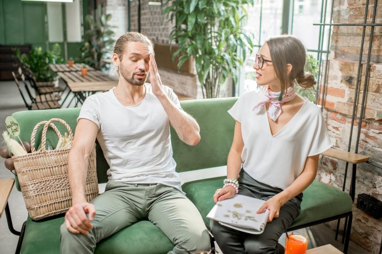 Couple Conflict Man Stressed