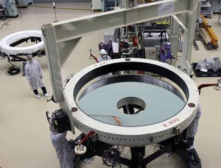 Crane Operators Roman Space Telescope Primary Mirror