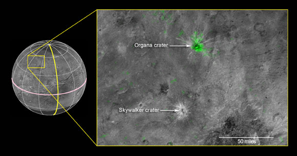 Craters on Pluto's Largest Moon Charon Reveal Ammonia
