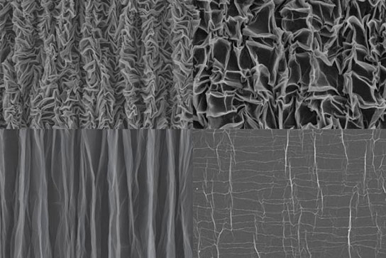 Crumpled Graphene Forms Stretchable Supercapacitors
