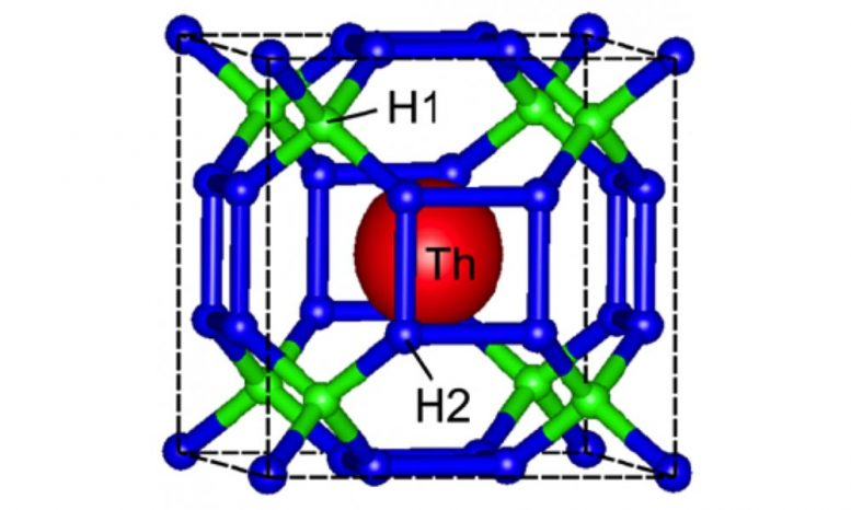 Crystal Structure Thorium Decahydride