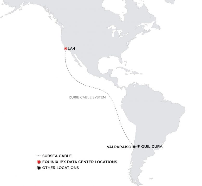 Curie Subsea Cable Route