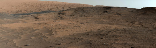 Curiosity Mars Mover Shows the Pahrump Hills